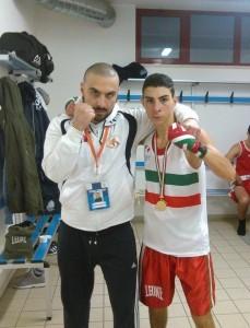 Osnato Giuseppe (dx) con il tecnico Salvatore Pace               (sx)