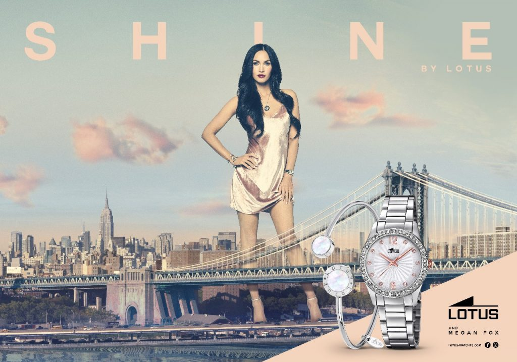 Lotus Watches Sar 224 Megan Fox La Nuova Testimonial Del