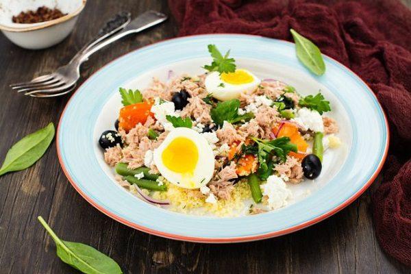 insalata di cous cous al tonno