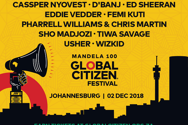 GLOBAL CITIZEN FESTIVAL – MANDELA 100