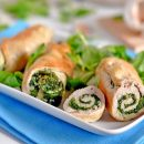 Involtini pollo e spinaci