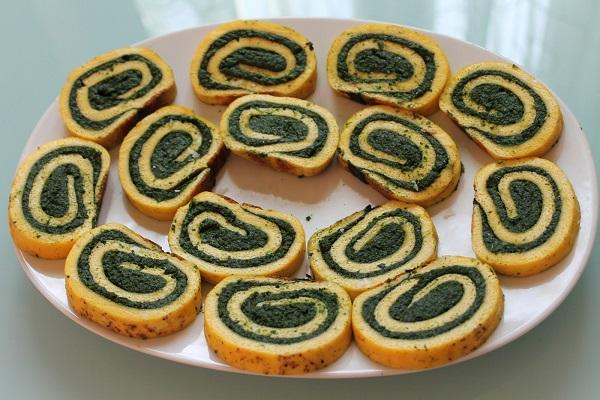 rotolo frittata di spinaci